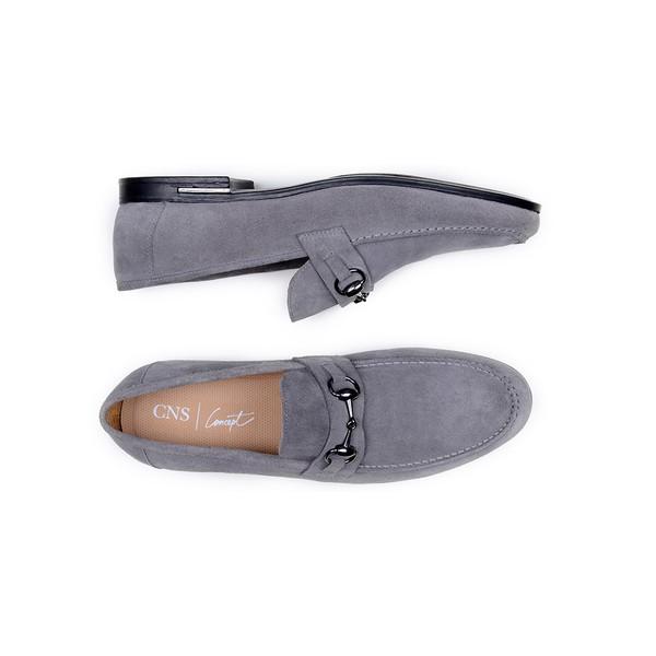Sapato Casual Masculino Mocassim CNS 1160 Titânio