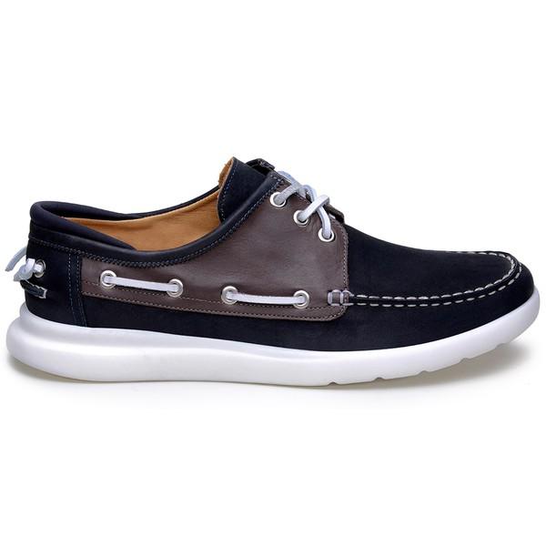 Sapato Casual Masculino Sider CNS Wood 01 Marinho e Café