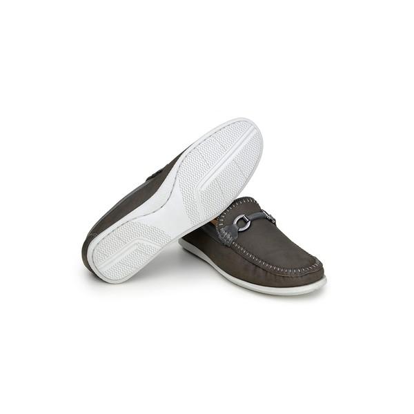 Sapato Casual Masculino Mocassim CNS 19215 Cinza