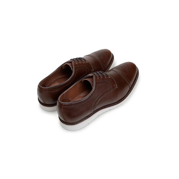 Sapato Casual Masculino Derby CNS Brogue SUN 011 Tan