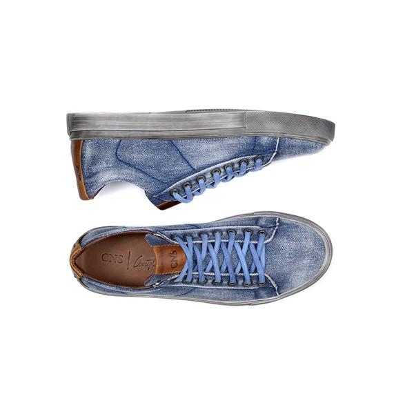 Sapatênis Masculino CNS 62048 Jeans e Conhaque