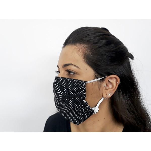Mascara-de-proteção-lavável-poá-vermelha
