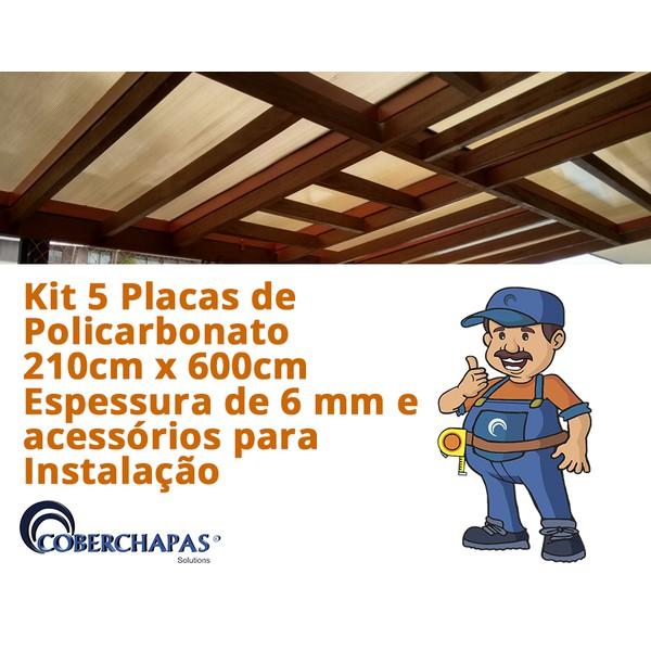 Kit-5-Chapas-de-Policarbonato-Alveolar-210x600-4-Milímetros-Acessorios-para-Instalacao