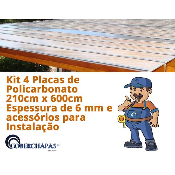 Kit-2-Chapas-de-Policarbonato-Alveolar-210x600-4-Milímetros-Acessorios-para-Instalacao