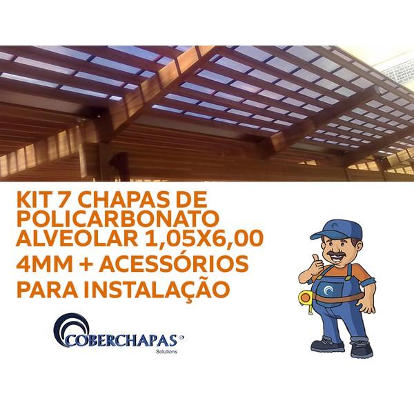 Kit-7-Placas-de-Policarbonato-105x6x4mm-acessórios-para-Instalação