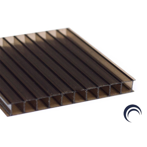 Chapa de Policarbonato Alveolar Bronze 1,05x6,00 4 Milímetros