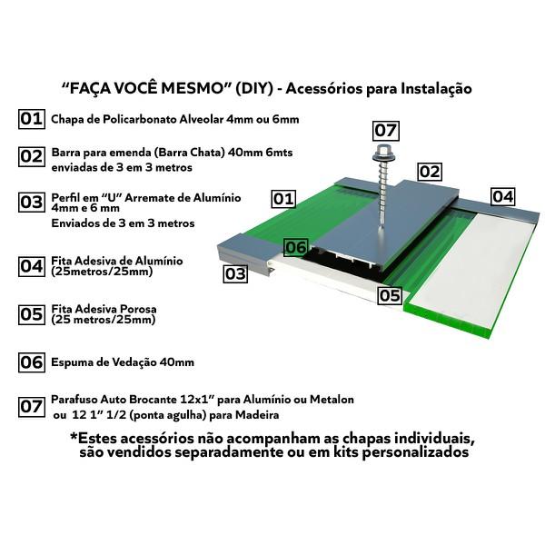 Kit de Acessórios para Instalação para sua Cobertura