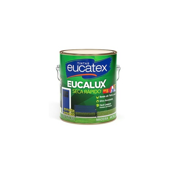 Esmalte Sintético Metálico 900ml Eucatex Ouro