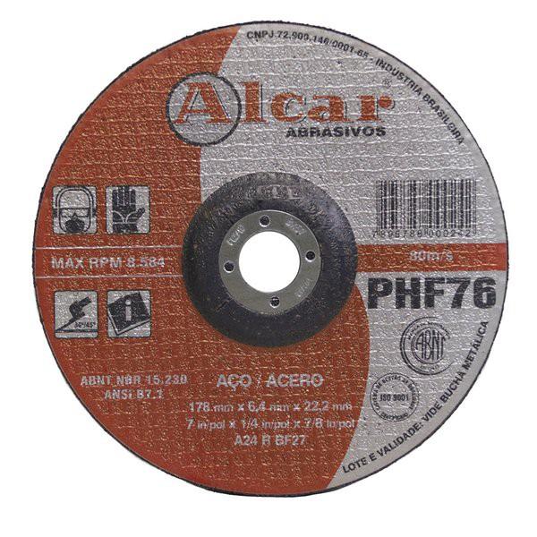 Disco de Desbaste Serralheiro 178 X 6,4 X 22,2 - Alcar