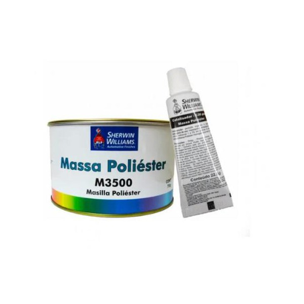 Massa Poliéster - M3500 750g - Kit com Catalisador Lazzuril