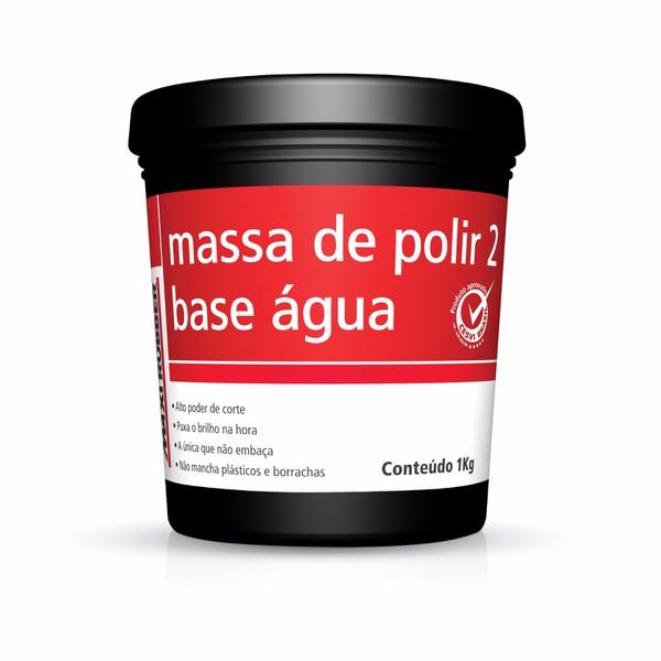 Massa de Polir N2 1kg Base de Aguá - Maxi Rubber