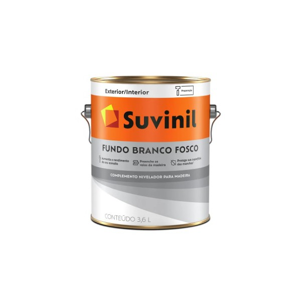 Fundo Branco Fosco P/ Madeira Suvinil 3,6 Litros