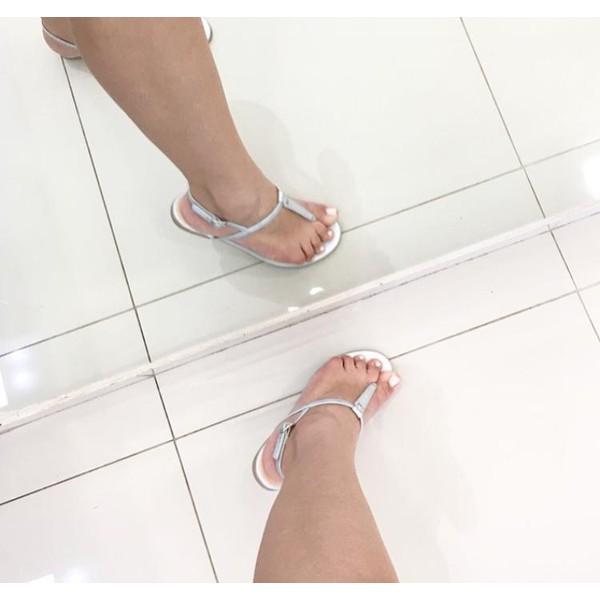 Rasteirinha Feminina Camminare Fosca Prata