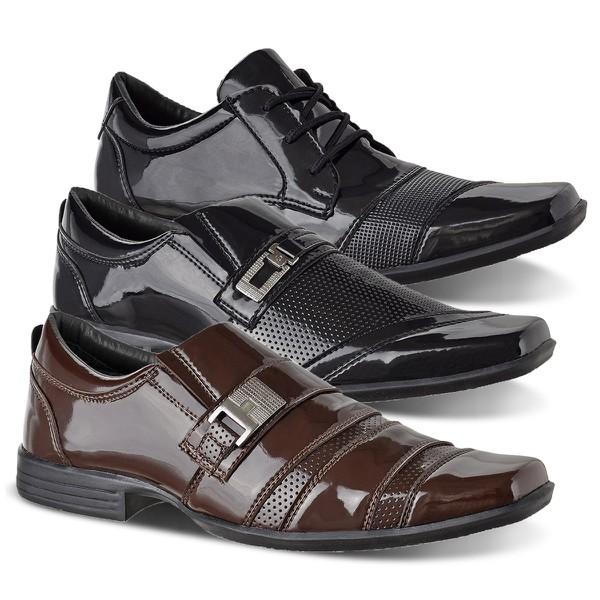Combo 3 Sapatos Social Masculino CRshoes