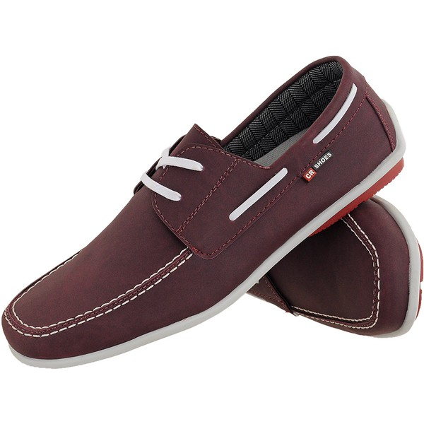 Mocassim masculino CRshoes bordo
