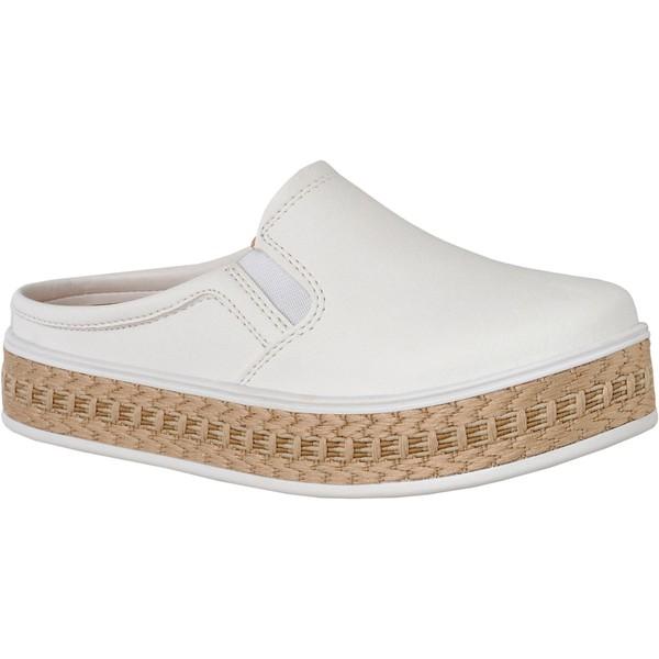 Mule Maresias Plataforma CRShoes - Branco Juta