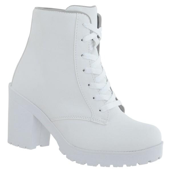 Coturno Feminino Tratorado CRshoes Branco