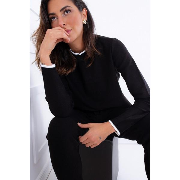 Blusa Franca Preta