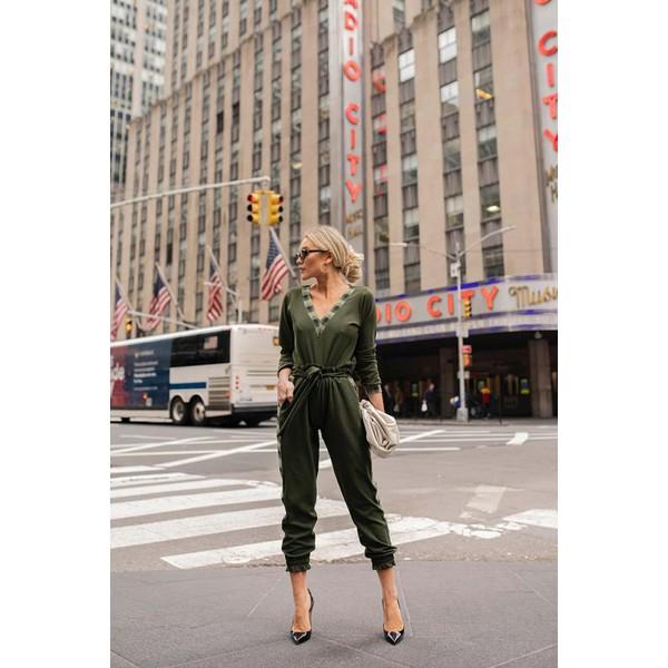 Conjunto Blusa - Calça Detalhe Elástico Xadrez Verde