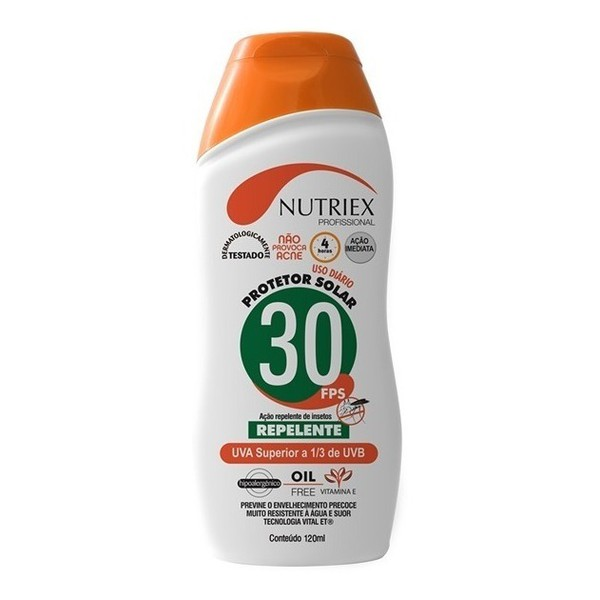 Protetor Solar FPS 30 120ML 1/3 UVA C/ Repelente Nutriex