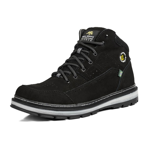 Bota Adventure Couro Legítimo Off Road Survivor Bell-Boots - 870 - Preto