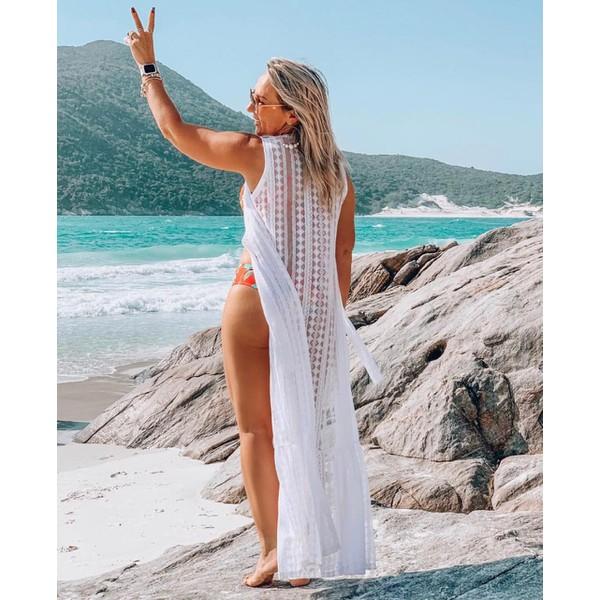 Saída de Praia Silvia Branca Rendada