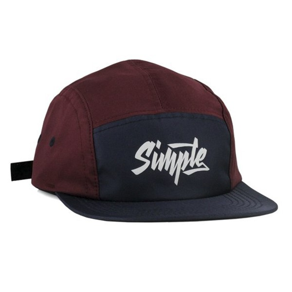 BONÉ SIMPLE 5PANEL HALF BORDO