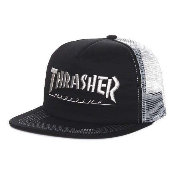 Snapback Trucker Thrasher Black White