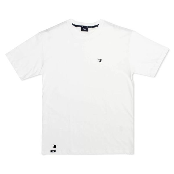 Camiseta Öus ícone Gato Preto Branca