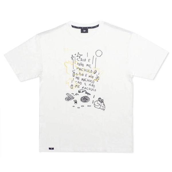 Camiseta Öus Caio e Não me Machuco Branca