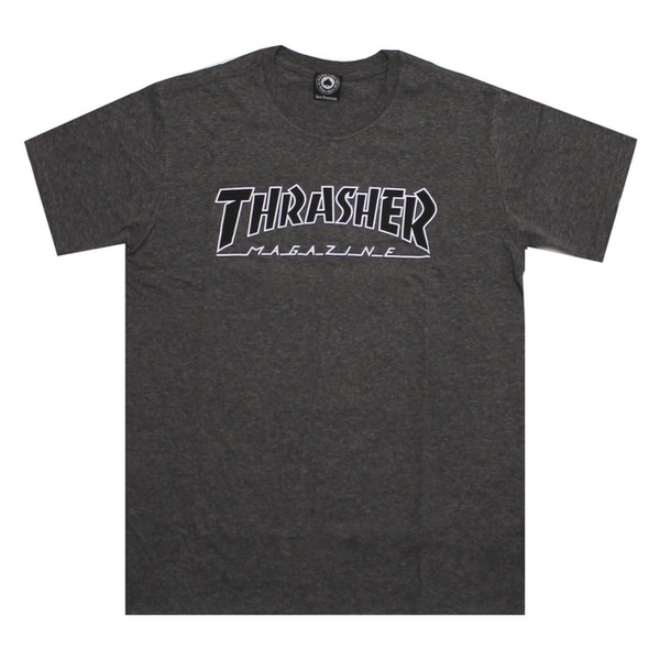 Camiseta Thrasher Outlined Chumbo