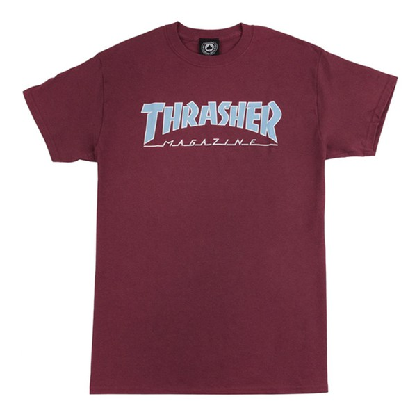 Camiseta Thrasher Outlined Bordô