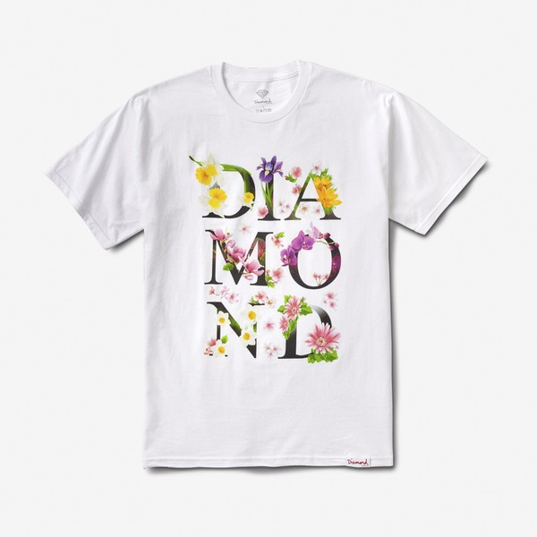 Camiseta Diamond Botanical White