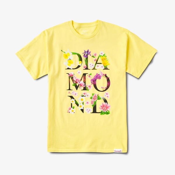 Camiseta Diamond Botanical Yellow
