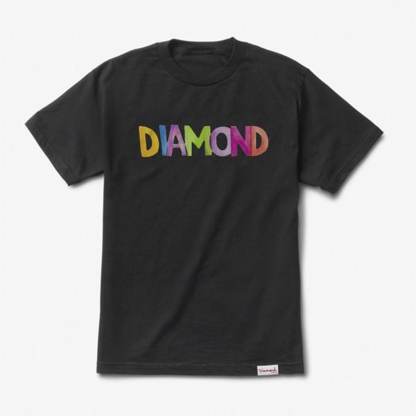 Camiseta Diamond Watercolor Black