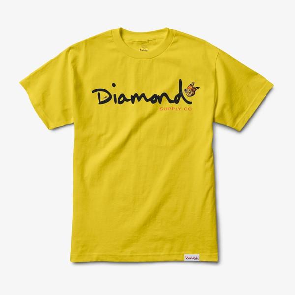 Camiseta Diamond Paradise OG Script Yellow