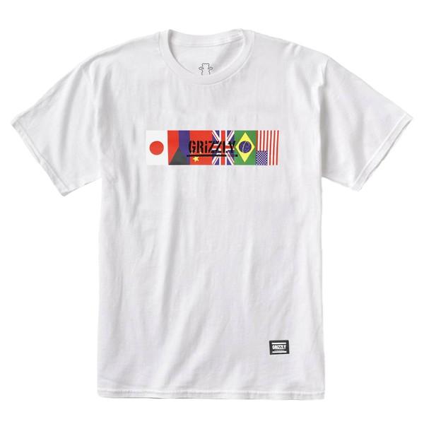 Camiseta Grizzly Internationally White