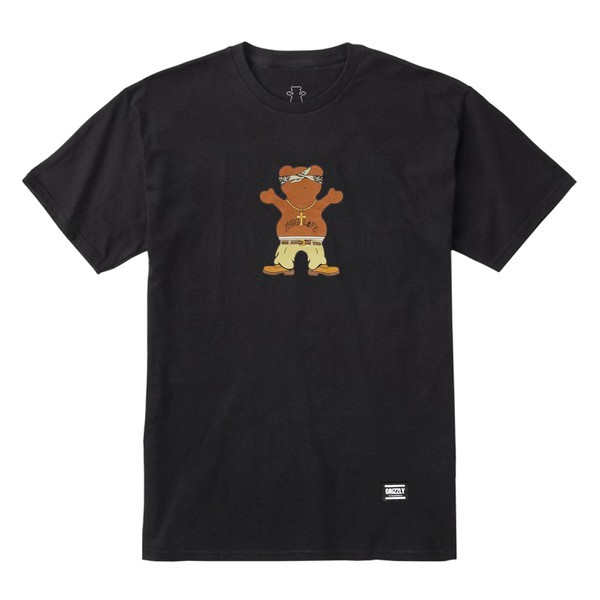 Camiseta Grizzly Thug Bear Black