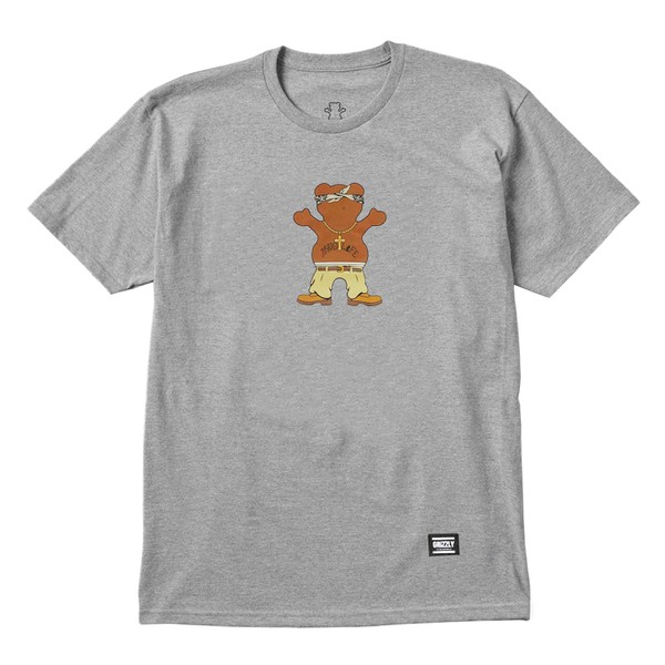 Camiseta Grizzly Thug Bear Grey