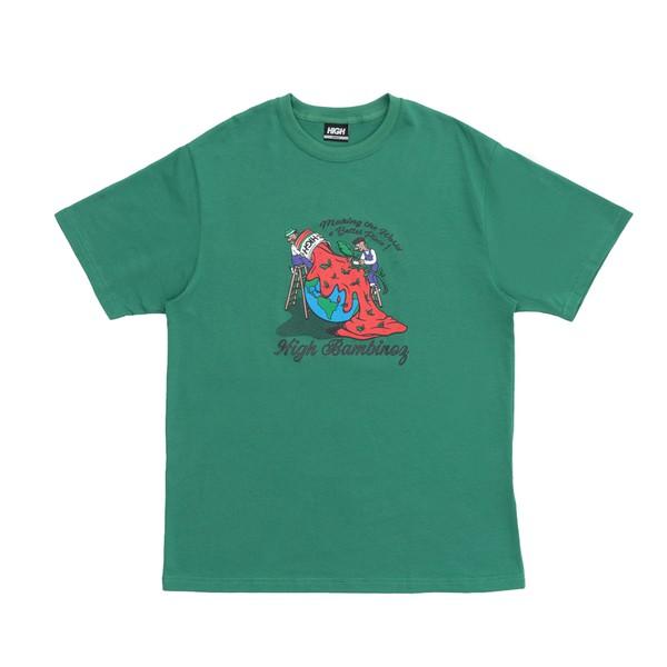 Camiseta High Tee Bambinoz Aqua Green