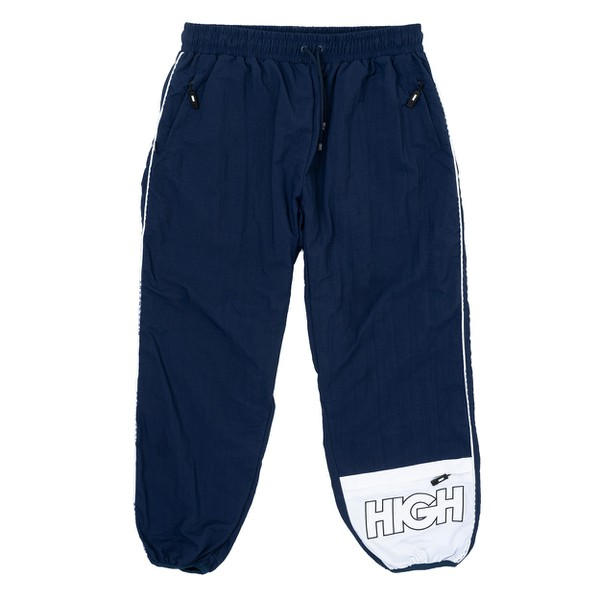 Trespasser Track Pants High Navy White