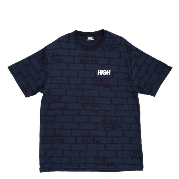 Camiseta High Jacquard Tee Bricks Navy