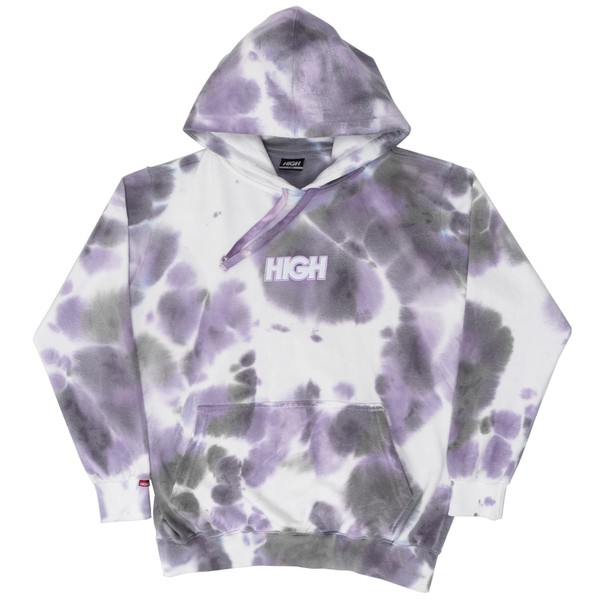 Hoodie High Blot Tie Dye Purple