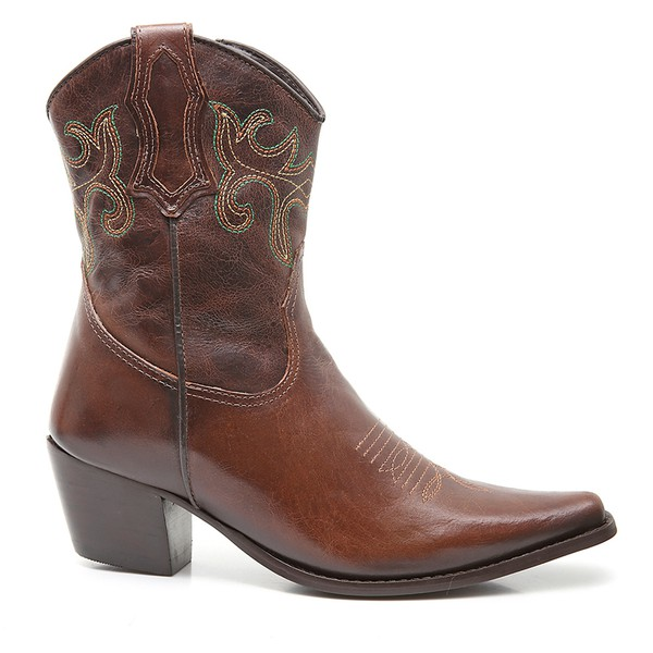 Bota Country Feminina Dallas - Fossil - Marrom