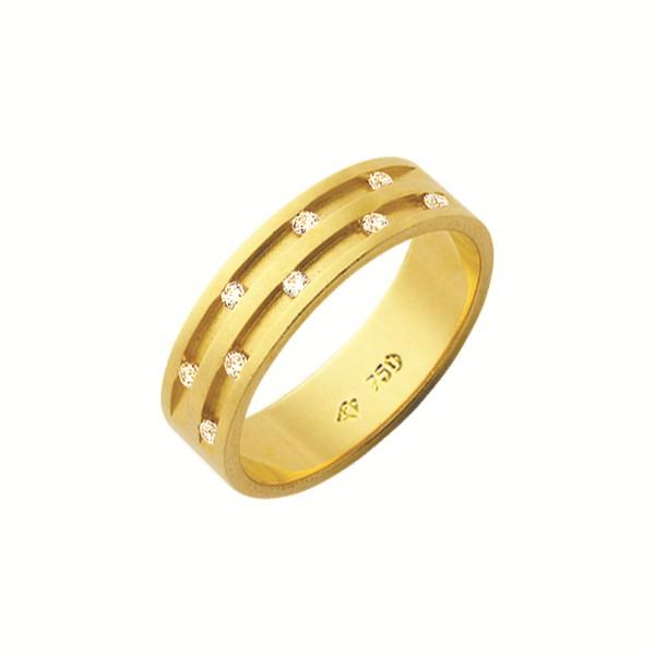 Alianças de casamento e noivado em ouro 18k 750 trabalhadas com pedras 5.50mm