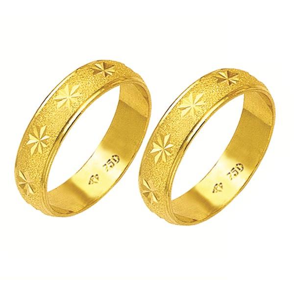 Alianças de casamento e noivado em ouro 18k. 750 tradicional e trabalhada 5.5 mm
