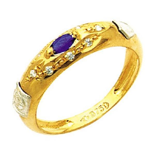 Anel de Formatura com diamantes em Ouro 18k