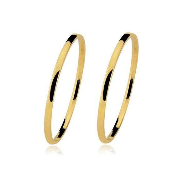Alianças de casamento e noivado em ouro 18k 750 tradicional e anatômica 1,20 mm