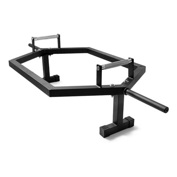 Barra Academia Hexagonal Musculação Agachamento C/ Apoio