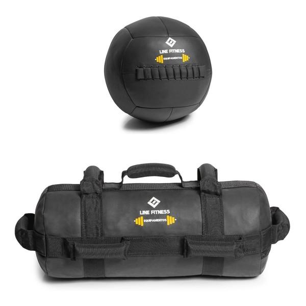 Kit De Wall Ball + Power Bag Crossfit Funcional